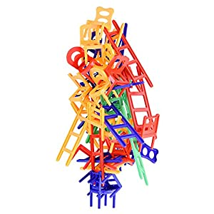 WEofferwhatYOUwant Sedie e Scale Un Gioco di Abilità e Destrezza per Bambini, Ragazzi e Adulti. Gioco da Tavolo di società per Tutte Le Feste