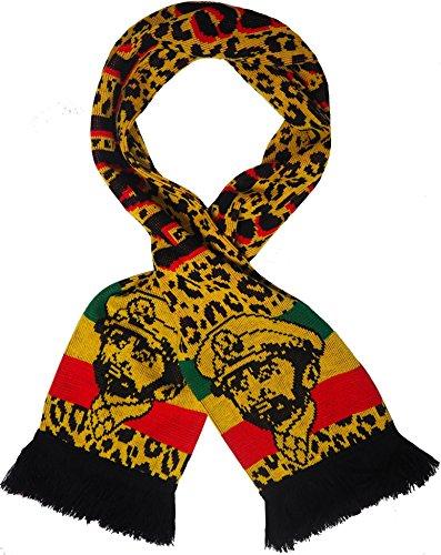 Rasta Unisex Löwe von Juda Strickschal Rastafari Reggae Bob Marley, Haile Selassie, dick Schal (Marley Bob Tragen Rasta)