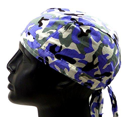Beaucoup Tête Lingettes Bandanas Headscarf bande Annas pour enfants et adultes (Cuba Black) - Camo snow