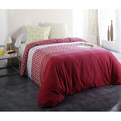 Monteleone Linge de Maison Parure De Lit Ethnik - Couleur - Rouge, Taille - 200x200