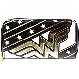 Cartera de Wonder Woman Estrellas y rayas Negro
