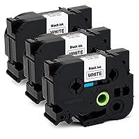 Prenez l'OfficeWorld, imprimez votre vie colorée! A propos du produit  Quantité: 3 paquets  Couleur: Noir sur blanc  Taille: 24mm (largeur) x 8m (longueur)  Modèle: Compatible TZe-251 TZe251 Rubans Cassettes  Application: Employé couramment dans le b...