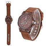 Elektronische Digital Armbanduhr Mann Uhr Mann-dauerhafte Nylonband Sport kühle Mode Armbanduhren(Braun)