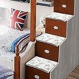 Cama para niños dormitorio universitario cama litera escalera cama esterilla pedal antideslizante almohadilla anti-frío engrosamiento, juego completo, 40 * 28 cm