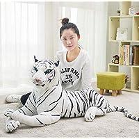 KMNHFGDB Plush Toy Tiger Doll Cute Simulation White Tiger Riding Children