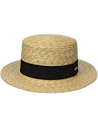 Kangol Wheat Braid Boater, Chapeaux Feutre Mixte