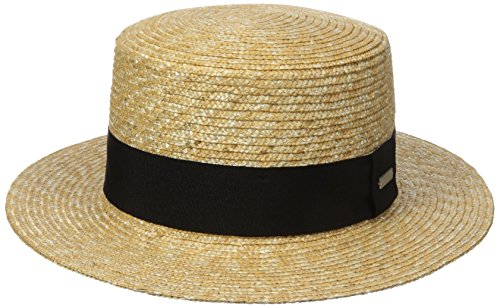 Kangol Unisex Filzhüte Wheat Braid Boater Yellow (Natural), (Skimmer Hüte)