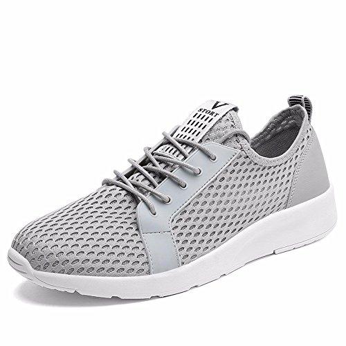 Chaussures De Sport Commerce Extérieur Chaussures De Sport D'été Hommes Creux De Net Chaussure De Course Gris
