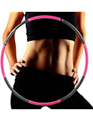 Fitness Exercise Hula Hoop- CMXING Weighted 1.36kg (2.8lbs) adult Hula Hoop Perfect for Dancing Exercise Fitness and Weight Loss (39 inch 8-segmented)