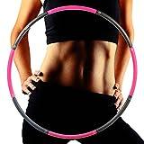 cmxing Hula Hoop 8 Knoten zur Gewichtsreduktion Reifen mit Schaumstoff 1.2 kg Durchmesser 100cm