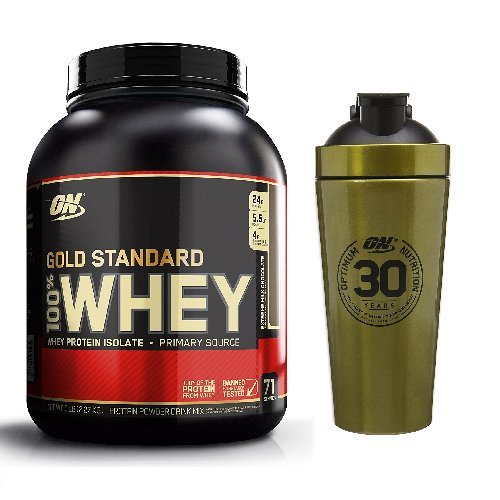 Optimum Nutrition Gold Standard Whey 2.27kg Extreme Milk Chocolate with Gold Shaker