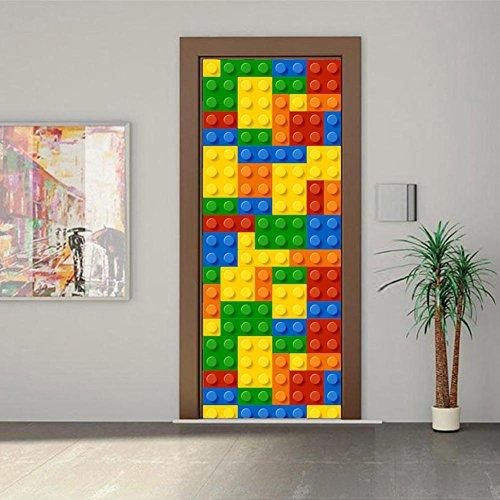 kleber 3D Home Decor Wasserdicht selbstklebend abnehmbare DIY 200 * 77cm (Wohnheim Tür Dekoration Halloween)