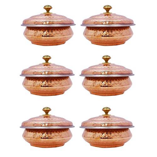 6 Stück Traditionelle Indische Handi Gericht Serviergeschirr Geschirr Geschirr Hotelgeschirr