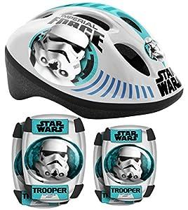 Star Wars - Set de protección Combo, Color Blanco y Azul (Stamp SW190507)