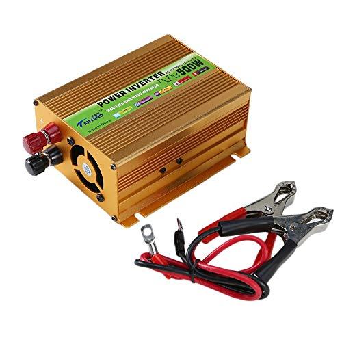 WEIWEITOE-DE Auto Wechselrichter Sinus Wechselrichter DC 12V zu AC 220V USB Adapter Tragbarer Spannungswandler Autoladegerät, gelb, -