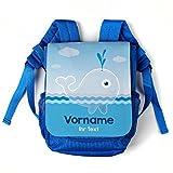 Striefchen® Kinderrucksack mit Wal-Motiv und Wunschnamen sowie Wunschtext