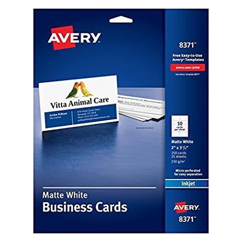 Avery 8371 business card - business cards