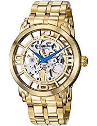 Stuhrling Original Men's Automatic Watch with Gold Dial Analogue Display and Gold Stainless Steel Gold Plated Bracelet 165B2B.333331