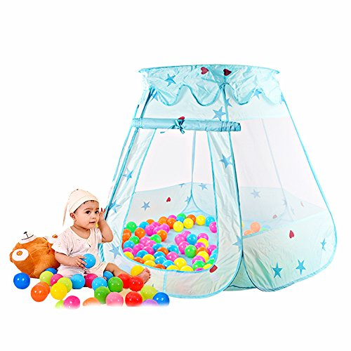 Tenda da gioco Bambini Principessa Pop Up Pieghevole Piscina di Palline Casetta per interno ed esterno Utilizzo - Blu