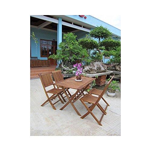 Bentley Garden - Gartenmöbel-Set aus Holz - Rechteckiger Tisch + 4 Stühle