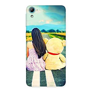 Gorgeous Teddy Girl Cute Multicolor Back Case Cover for HTC Desire 826