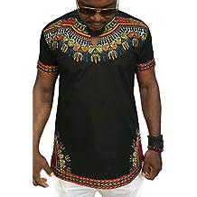Männer T-Shirt Dashiki Afrikanischen Stammes Kurze Ärmel ... 2e73bbd531