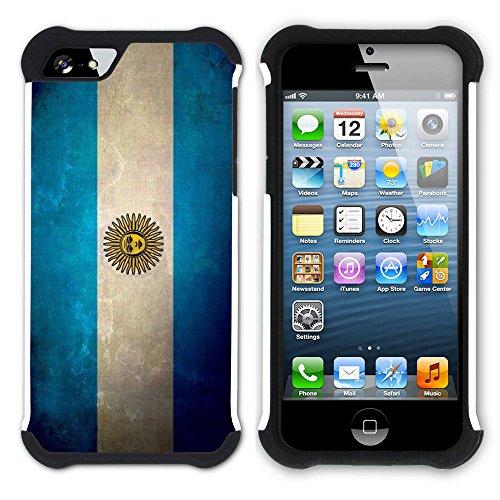 Graphic4You Vintage Uralt Flagge Von Venezuela Venezolanisch Design Hart + Weiche Kratzfeste Hülle Case Schale Tasche Schutzhülle für Apple iPhone SE / 5 / 5S Argentinien Argentinische