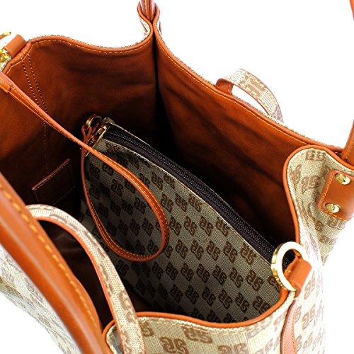 BORSA PIERO GUIDI MONOGRAMMA HAND BAG REVERSIBILE 610413081 11 CUOIO