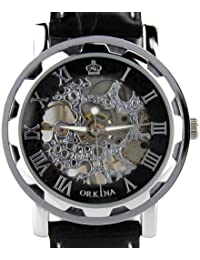 ORKINA KC023-L-Silver/Black - Reloj , correa de cuero