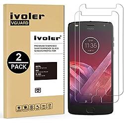 iVoler [Pack de 2] Verre Trempé pour Motorola Moto Z2 Play, Film Protection en Verre trempé écran Protecteur vitre