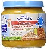NESTLÉ SELECCIÓN puré de verduras y carne, variedad Zanahoria y Calabaza con Ternera, para bebés a partir de 6 meses - Paquete de 6 tarritos de 190 g