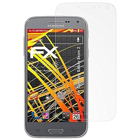Samsung Galaxy Beam 2 Displayschutzfolie - 3 x atFoliX FX-Antireflex-HD hochauflösende entspiegelnde Schutzfolie Folie