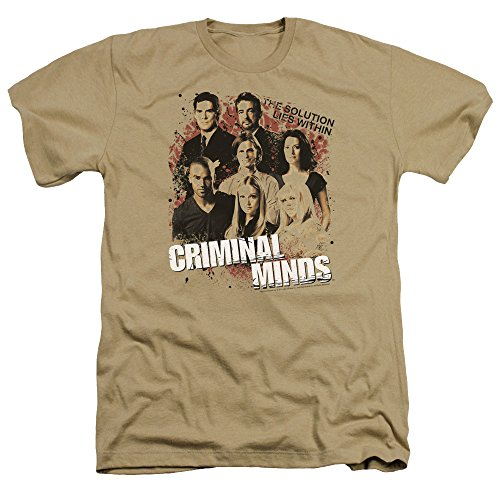 Criminal Minds TV Show CBS Solution Lies Within Adult Heather T-Shirt Tee