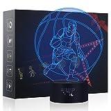 3D Nachtlampe, Besrina Optische Illusions Touch Control Schreibtisch-Lampe USB-Ladegerät, beste Geschenk für Kinder Familie Haus Dekoration (Paul Pierce)