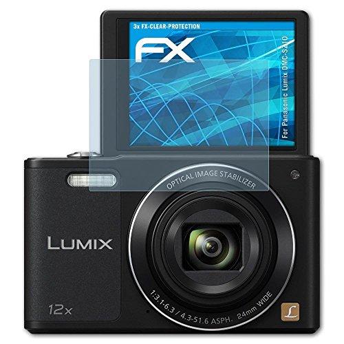 atFoliX Displayschutzfolie für Panasonic Lumix DMC-SZ10 Schutzfolie - 3 x FX-Clear kristallklare Folie