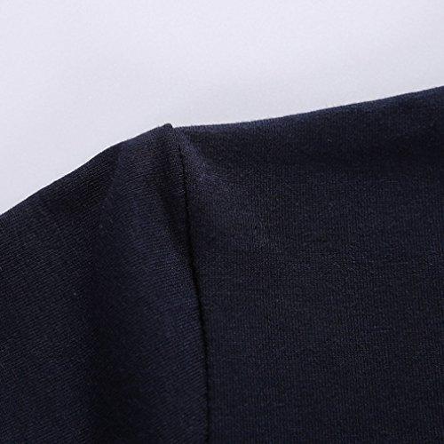 Honghu Herren Kurzarm Urban Basic T-Shirt Blau