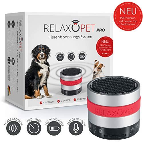 RelaxoPet PRO Entspannungsgerät   Version für Hunde   Beruhigung durch Klangwellen   Ideal bei Gewitter, Alleinsein oder auf Reisen   Hörbar und unhörbar