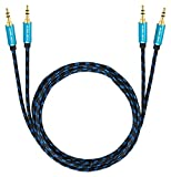 Ultra HDTV Premium AUX-Kabel 2x 0,5m | Audio-Kabel 3,5mm auf 3,5mm | Klinken-Kabel mit Metall-Adaptern