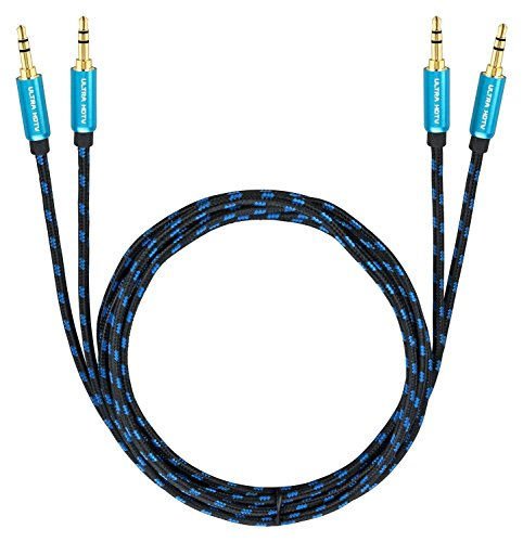 Ultra HDTV Premium AUX-Kabel 2x 12,5m | Audio-Kabel 3,5mm auf 3,5mm |...