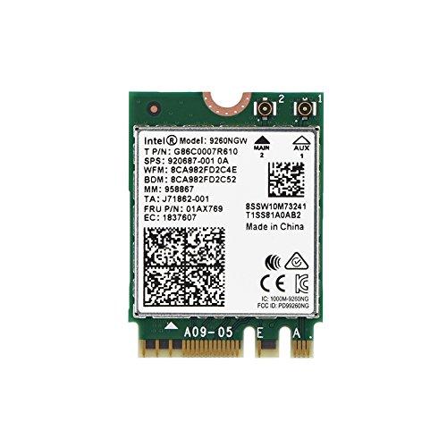 Tarjeta inalámbrica WiFi 1730 Mbps Intel 9260NGW