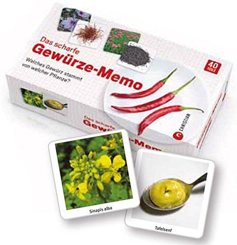 Preisvergleich Produktbild Das scharfe Gewürze Memo: Welches Gewürz in der Küche stammt von welcher Pflanze Ein Rätselspaß und Memospiel nicht nur für Hobbyköche und Genießer, ... Welches Gewürz stammt von welcher Pflanze