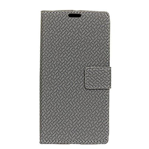 Sharp Aquos Ever SH-02J - Protector New Wallet Style Flip Cover Case for Sharp Aquos Ever SH-02J Only (Sharp Aquos Ever SH-02J Cover Grey) - Aquos 42