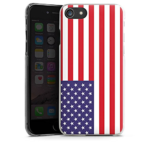 Apple iPhone X Silikon Hülle Case Schutzhülle Amerika USA Flagge Fußball Hard Case transparent