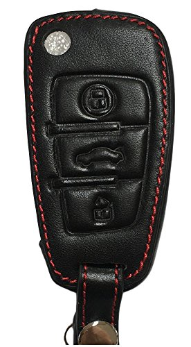 Astuccio portachiavi - In vera pelle per A1 S1 A3 S3 RS3 A4 S4 RS4 A6 S6 RS6 Q3 QS3 Q7 TT e TTS & TTRS R8 V8 - Custodia per chiave - Custodia protettiva per chiave auto.