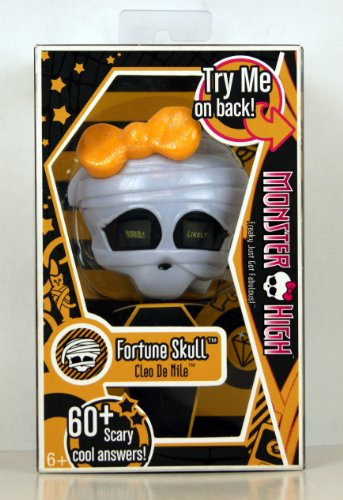 Mattel Monster High Freaky Just Got Fabulous Accessories - Cleo De Nile Fortune Skull with 60+ Scary Cool Answers (T1409) (High Cleo De Schuhe Monster Nile)