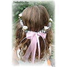 Pelo Rosa cabeza joyas boda corona flores pelo Niño Comunión