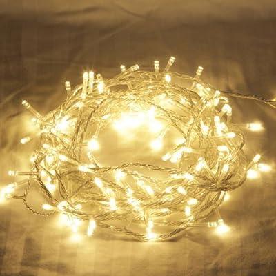 100er LED Lichterkette Weihnachten Party-Lichterkette innen Kette Leuchte WarmWeiß von Shenzhen Jin Feng Yuan Technology Co., Ltd - Lampenhans.de