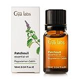 Pachulí (Indonesia) - 100% puro, sin diluir, natural y terapéutico grado para difusor de aromaterapia, piel sana y relajación 10ml - Gya Labs