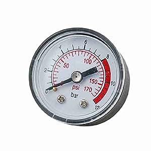 Schwarz Klar 170 Psi Kompressor-Manometer Messwerkzeug