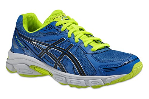 Asics GEL-GALAXY 7 GS, Scarpe da jogging Unisex -, Blu (Blau (BLUE/BLACK/FLASH YELLOW 4290)), 39.5